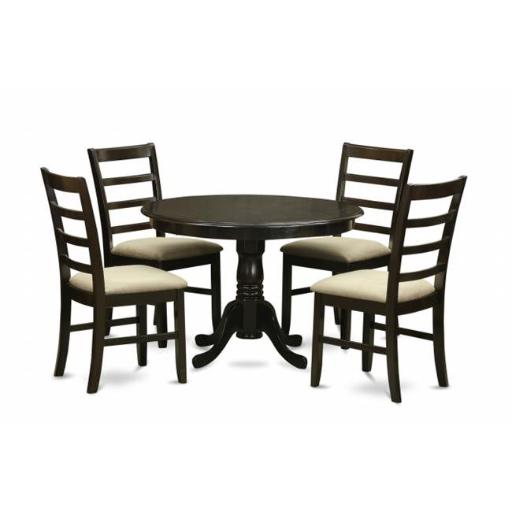 East West Furniture HLPF5-CAP-C 5 Piece Small Kitchen Table Set-Dining Table and 4 Kitchen Chairs