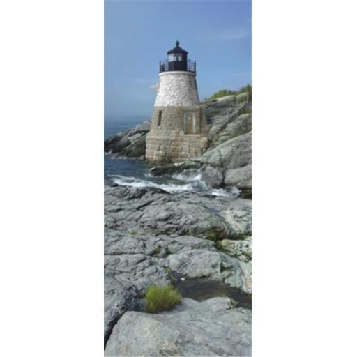 Lighthouse along the sea Castle Hill Lighthouse Narraganset Bay Newport Rhode Island USA Poster Print by - 12 x 36