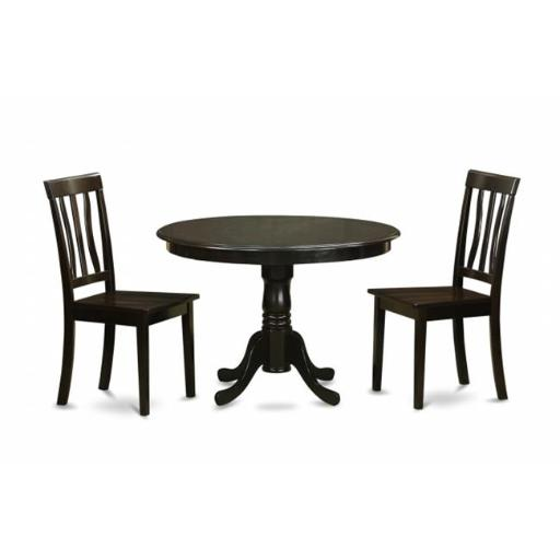 East West Furniture HLAN3-CAP-W 3 Piece Small Kitchen Table Set-Small Kitchen Table Set and 2 Dinette Chairs