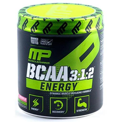 Muscle Pharm 4820212 BCAA 3 isto 1 isto 2 Energy Sport Supplement Watermelon - 30 Serving