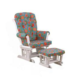 Cotton Tale GPGG Gypsy Glider with Ottoman, Floral White - Small