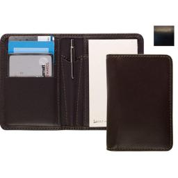 Raika RO 128 BLK Card Note Case with Pen - Black