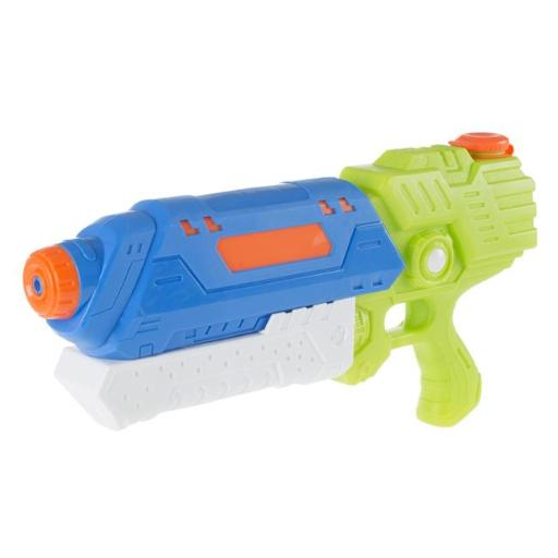Hey Play M350105 25 ft. Water Gun Soaker with Air Pressure Pump for Kids & Adults, Green & Blue