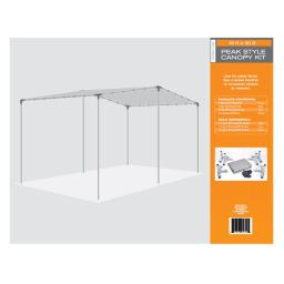 AHC 7500036 10 x 20 ft. Heavy Duty Carport Canopy Tarp  Silver