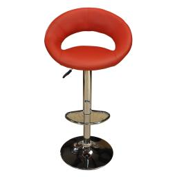 Red Lips Set of 2  Barstools Bar Chair Adjustable Swivel PU Seat