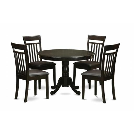 East West Furniture HLCA5-CAP-LC 5 Piece Small Kitchen Table Set-Small Table and 4 Kitchen Chairs