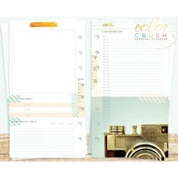 Color Crush Personal Planner Inserts 12/Pkg Memory Keeping