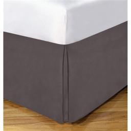 Lux Hotel FRE23614GREY02 14 in. Basic Microfiber Bedskirt, Grey - Full