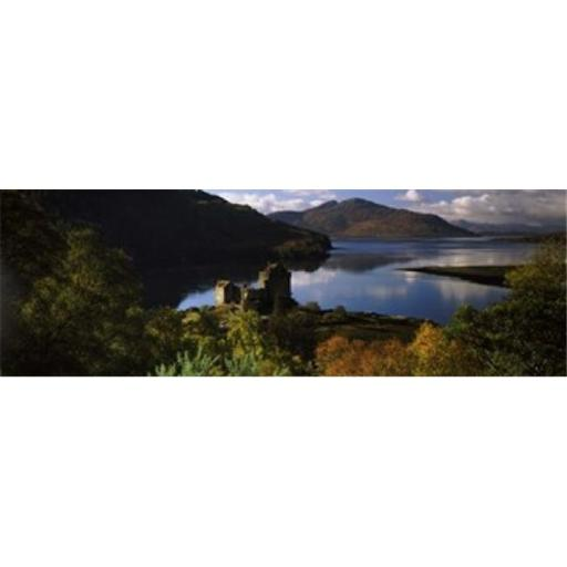 Panoramic Images PPI138075L Castle on a hill Eilean Donan Loch Duich Highlands Region Inverness-Shire Scotland Poster Print by Panoramic Images -