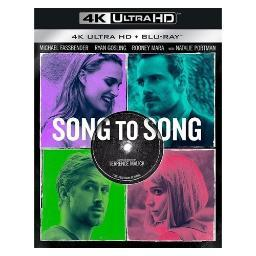 Song to song (blu ray/4kuhd/ultraviolet/digital hd) BR94188839