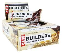 Clif Bar - Builder's Protein Bars Box Vanilla Almond