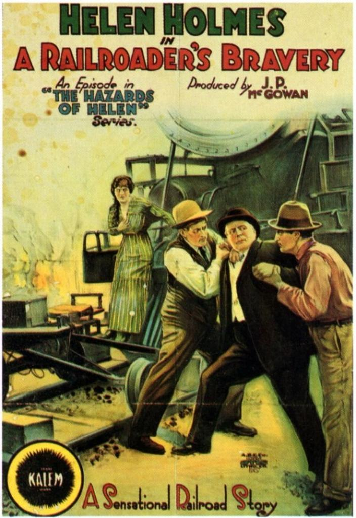 A Railroader's Bravery Movie Poster (11 x 17)