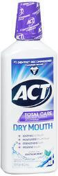 Act Total Care Anticavity Fluoride Rinse Dry Mouth Soothing Mint - 18 oz