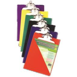 Saunders Manufacturing 21607 Recycled Plastic Clipboard High Capacity Clip 8.5x11 Asst