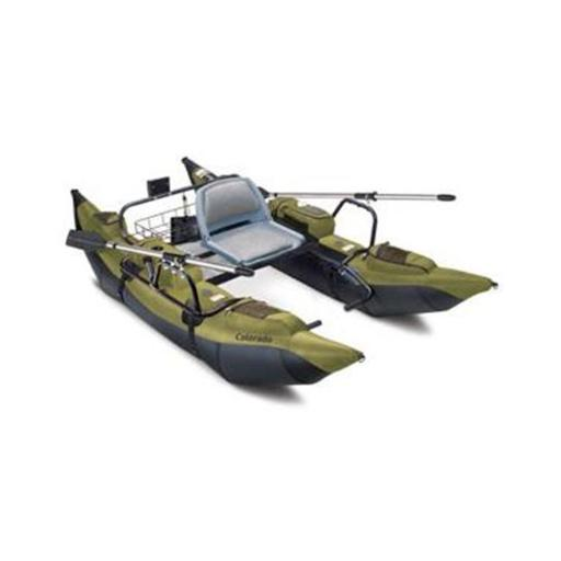Classic Accessories 69660 - Colorado 9 Foot High-Capacity Pontoon Boat With Padded Seat - Sage-Black