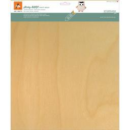 "BARC Wood Sheet W/Adhesive Backing 12""X12"" White Birch"