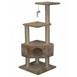 Go Pet Club F32 51 in. Beige Cat Tree Condo Furniture
