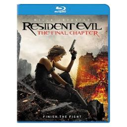 Resident evil-final chapter (blu ray w/ultraviolet) BR48863