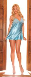 Chemise Mesh Cups Blue Large MO1931LG