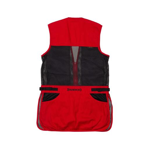 Browning 3050547103 bg mesh shooting vest r-hand youth's large black/red