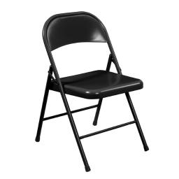 National Public Seating 910 Black Steel Commercialine Folding Chairs