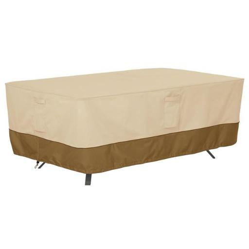 Classic Accessories 55-565-011501-HBFR Rectangle Table Cover Pebbble