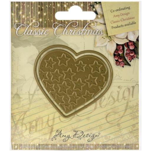 Find It Trading Amy Design Classic Christmas Die Star-Filled Heart