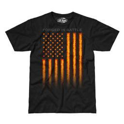 7.62 Design Forged In Battle American Flag Patriotic Men's T-Shirt, Black