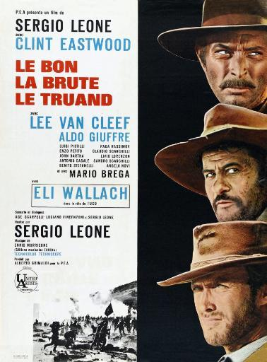 The Good The Bad And The Ugly Right From Top: Lee Van Cleef Eli Wallach Clint Eastwood On French Poster Art 1966 Movie Poster Masterprint