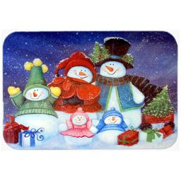 Carolines Treasures PJC1080LCB Merry Christmas From Us All Snowman Glass Cutting Board, Large PJC1080LCB