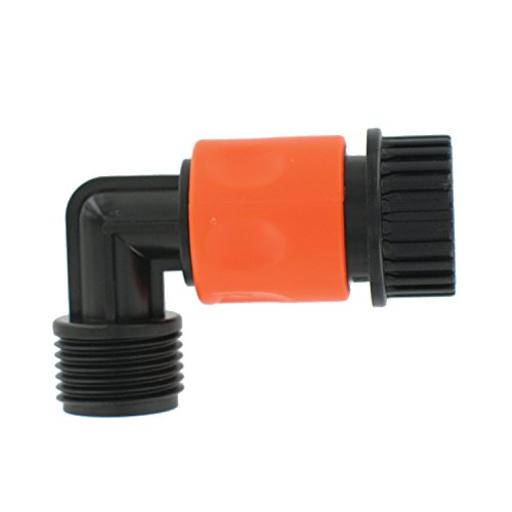 Valterra A01-0137Vp Plastic Quick Connect With 90 ° Hose Saver Adapter