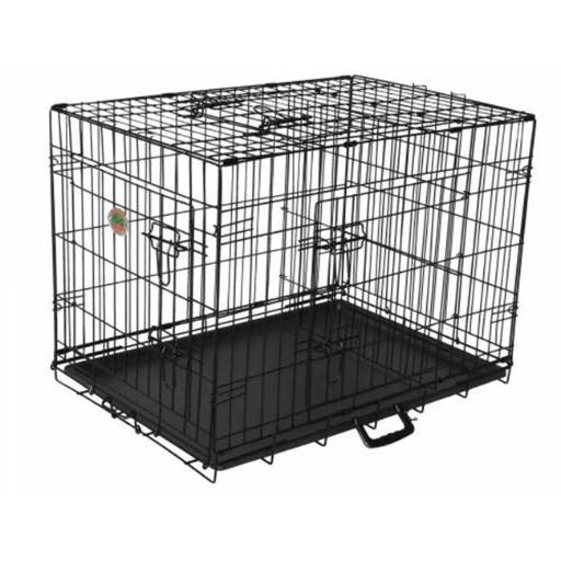Go Pet Club TD-30 30 in. Three-Door Metal Dog Crate with Divider FB7874082E6CA76D