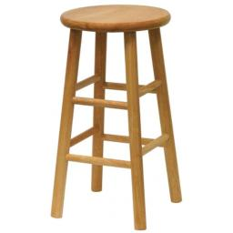 Winsome Trading Inc 81884 24 in. Natural Beveled Seat Barstool - Pack of 2