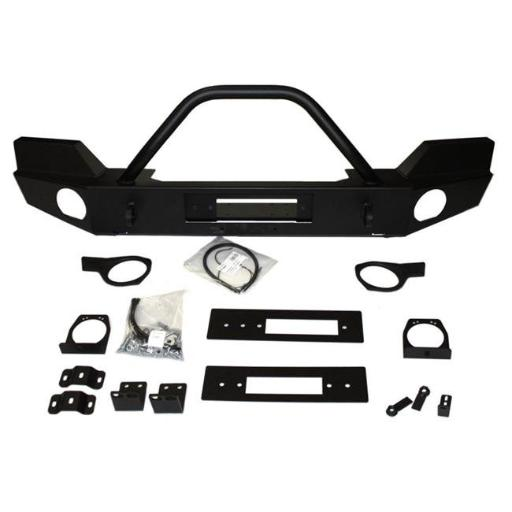 Warn Industries 87750 Elite Series Front Bumper with Grill Guard Tube