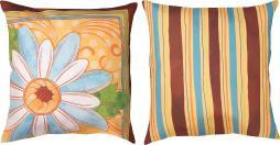 Pair of 18 Inch Sunny Day Botanicals II Print Throw Pillows