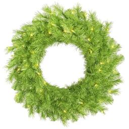 Vickerman A147925LED 24 in. Lime & Green Tinsel Wreath with 50 Green LED Light