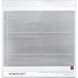 """American Crafts Side-Loading Page Protectors 12""""x12"""" 10/Pkg (6) 6""""X4"""" Pockets"""