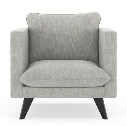 NyeKoncept 50170142 Jaedyn Armchair Twilled Weave - Cloud Gray with Black Finish