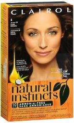 Clairol Natural Instincts Non-permanent Haircolor 4 Dark Brown, Pack Of 3