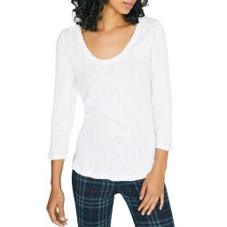Sanctuary Womens Ribbed Scoop Neck Top