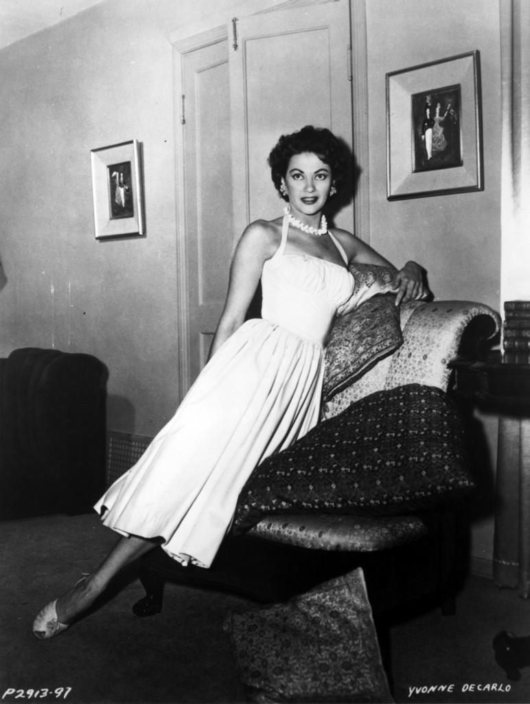 A portrait of Yvonne de Carlo Photo Print