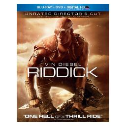 Riddick (blu ray/dvd combo w/unrated cut/digital hd w/uv-nla BR61125056