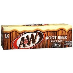 A&W Root Beer Soda 12 Pack of Cans