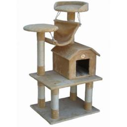 Go Pet Club F63 50 in. Beige Cat Tree Condo Furniture