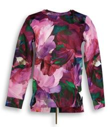 Isaac Mizrahi Live! Women's Sz XS Photoreal Floral Quilted Pink A294543