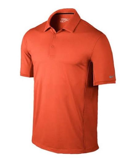 MENS Nike Golf Tech Ultra Polo Electro Orange/Wolf Grey 639711-843 SZ: M