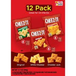 Cheez-It On the Go Original, White Cheddar, and Cheddar Jack Crackers