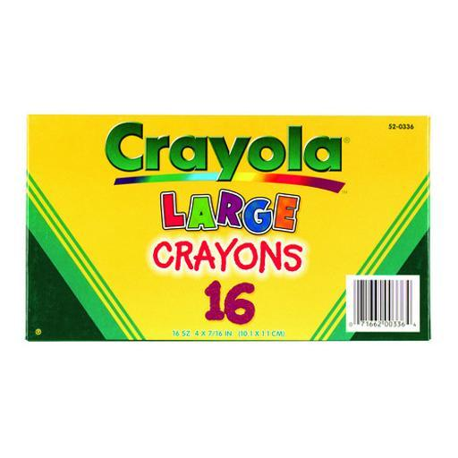 Crayola 520336 crayola large crayons 16 color box 535636