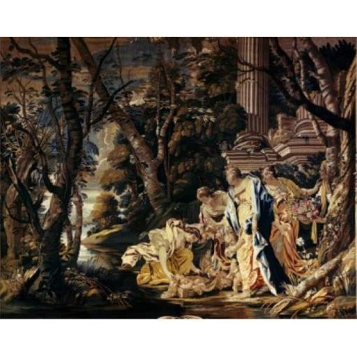 Posterazzi SAL900100600 Moses Saved From the Nile Tapestry Textiles Flemish Poster Print - 18 x 24 in.