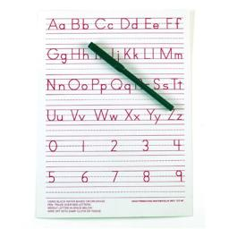 Ashley Productions ASH912MT Traditional Manuscript Write-On- Wipe-Off Board 9 X 12